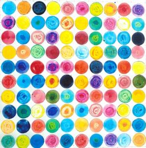Nr. 17, Aquarell + Wachs, 60x60, 2013