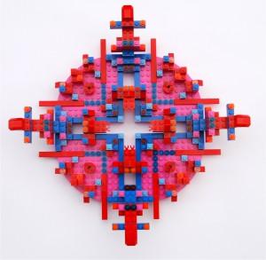 Objekt aus Lego in Magenta